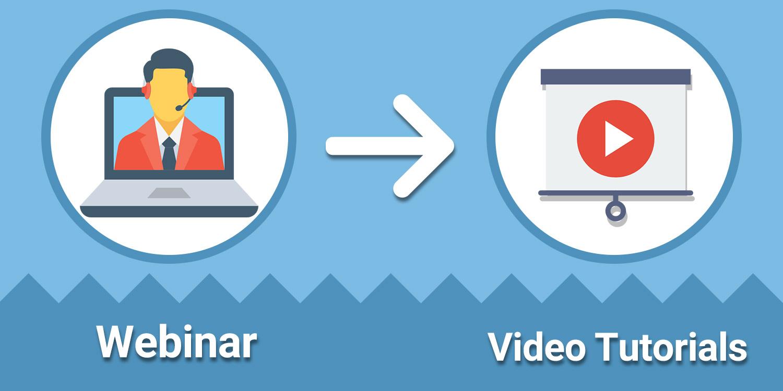 تبدیل وبینار به ویدئو - بازنویسی محتوا