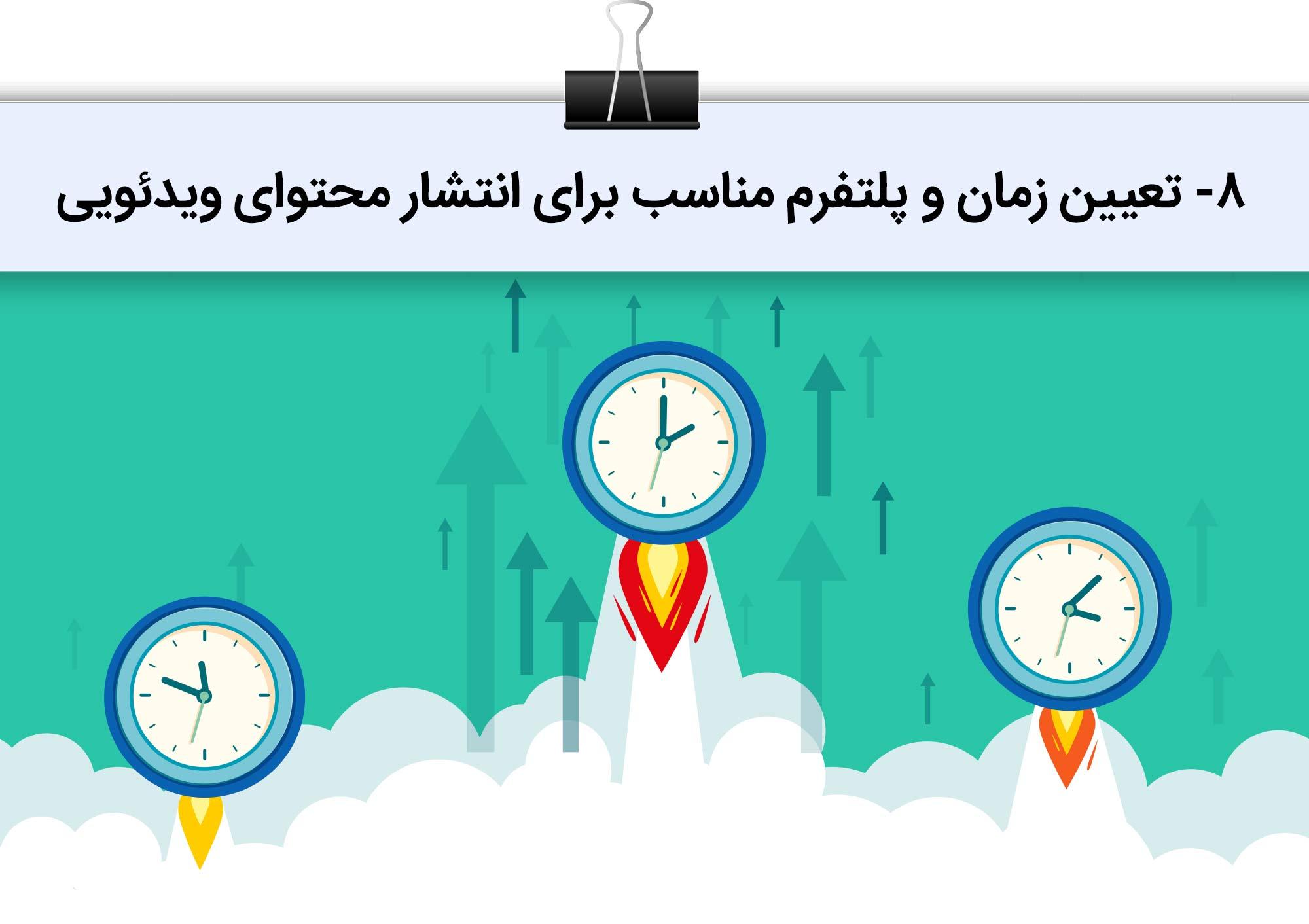 تعیین بهترین زمان انتشار